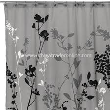 wholesale reflections gray fabric shower curtain buy discount