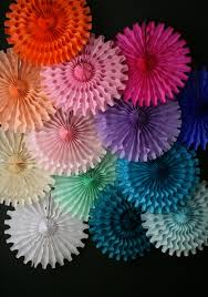 tissue paper fan decorative wedding decorations