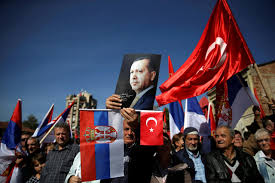 Flag Of Serbia Turkey U0027s Erdogan Gets Warm Welcome In Mainly Muslim Serbian Town