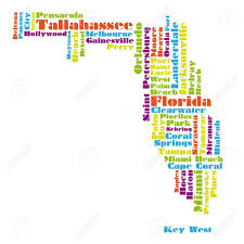 Map Of Flordia Word Cloud Map Of Florida State Royalty Free Cliparts Vectors
