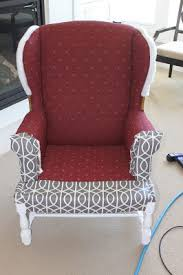 How To Make A Wing Chair Slipcover Recovering A Chair Without Removing Old Fabric Great Idea