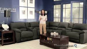 home theater sectionals lane rivers 365 sectional sofa theater seat store youtube
