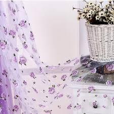 Purple Floral Curtains Pink Purple Floral Window Curtains Flower Window Valances