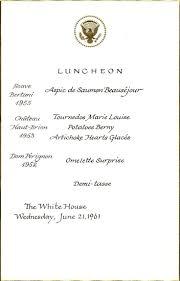 34 best jackie kennedy u0027s white house menus images on pinterest
