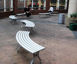 Aluminum Park Benches Public Bench Contemporary Aluminum Curved Bs1cr Botton
