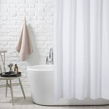 White Cotton Duck Shower Curtain by White Shower Curtain Home Design Ideas Murphysblackbartplayers Com