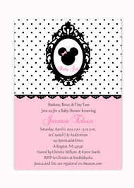 Unique Baby Shower Invitation Cards Minnie Mouse Baby Shower Invitations Redwolfblog Com