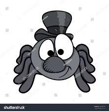male funny cartoon spider halloween vector stock vector 156688745