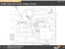 barrington area library site plan and building design review