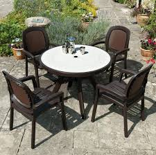 Plastic Patio Table Round by Plastic Patio Chairs For Relaxing 3258 Furniture Ideas