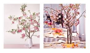 Cherry Blossom Tree Centerpiece by Wedding Centerpieces Ceremony Heaven Blog