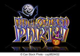 clip art of halloween party bats black ground halloween party