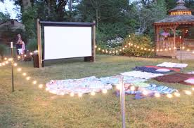 setup your very own outdoor cinema
