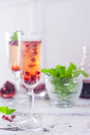 pomegranate mint champagne cocktail recipe eating richly
