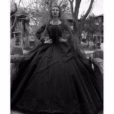 50 S Wedding Dresses Online Shop Vintage Black Gothic Wedding Dresses 2017 Long Sleeves