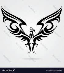tribal eagle bird royalty free vector image vectorstock