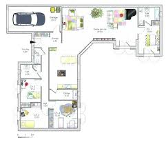 plan de maison en l avec 4 chambres plan maison en l 4 chambres plan plain pied plan de maison 100m2