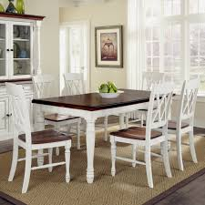 White Kitchen Table With Bench by Kitchen Table Round White With Bench Concrete Wrought Iron 8 Seats