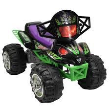 large grave digger monster truck toy monster jam grave digger quad 12 volt battery powered ride on