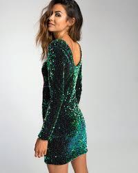 buy motel gabby green sequin dress in iridescent at motel rocks