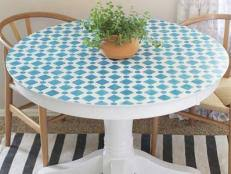 how to make a mosaic table top mosaic table video hgtv