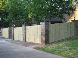 brick and wood fence living outside pinterest wood fences