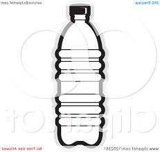 water bottle clipart black and white clipground