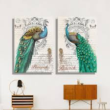 Peacock Feather Home Decor Online Get Cheap Peacock Art Aliexpress Com Alibaba Group