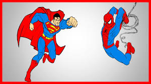 spiderman and superman coloring book let u0027s color youtube