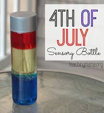 4th of july sensory bottle voss water bottle