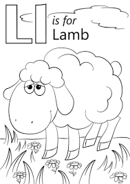 letter l is for lamb coloring page free printable coloring pages
