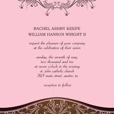 wedding programs wording exles non formal wedding invitation wording