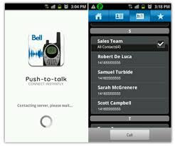talk android continual improvement to bell s downloadable push to talk apps
