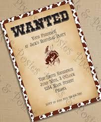 printable party invitations free cowboy party invites free printables