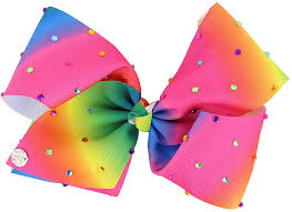 hair bow jojo siwa rainbow rhinestone hair bow accessories shoe