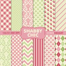 digital printable paper patterns shabby chic
