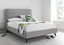 taffy jewel grey kingsize faux leather bed frame next day for