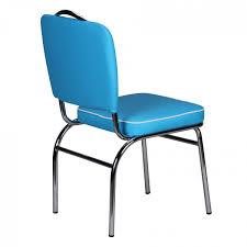 Esszimmerstuhl Leder Blau Wohnling Esszimmerstuhl American Diner 50er Jahre Retro Blau Weiß