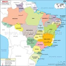 map of brazil political map of brazil brazil states map