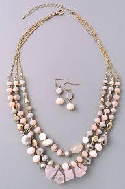 boho stone necklace images Boho stone layered necklace set spring summer 2017 jpg