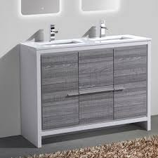 48 Double Sink Bathroom Vanity by Kube Bath Tucci 48