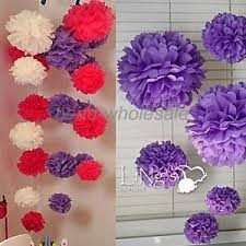 Hanging Flowers Beautiful Tissue Paper Flower Ball Wedding Party Home Decorative