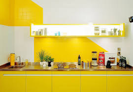 and colorful kitchen design ideas with yellow color cool