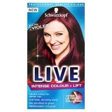 how to mix schwarzkopf hair color schwarzkopf live intensive color plus lift ultra violet hair dye