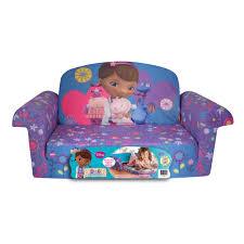 disney doc mcstuffins toddler 2 in 1 flip open foam sofa chair