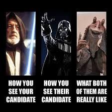 Meme Star Wars - hilarious star wars meme perfectly describes 2016 prez race