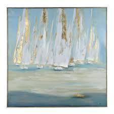 glimmering sails framed canvas art print framed canvas canvases