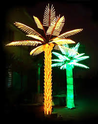 custom made outdoor led lighted palm trees yandecor