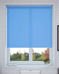 elementary light blue roller blind made to measure from make my