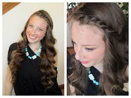 curl in front of hair pic wavy curls front twist spring hairstyle youtube